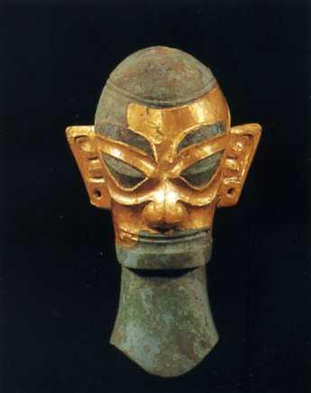 三星堆金面铜人头像; 欢迎来到德阳市;