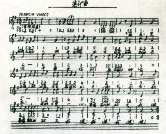 聂耳与国歌歌谱