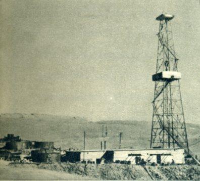 柴达木盆地的第一口石油深探井流出了原油